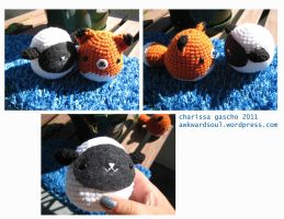 - Amigurumi Sheep and Fox - by awkwardsoul