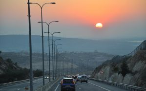 From Jerusalem down to Tel Aviv at dusk by Rikitza