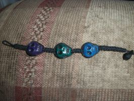 First Attempt at Skull Bracelet by QueenAliceOfAwesome