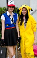 Fem!Ash and Pikachu by Indefinitefotography