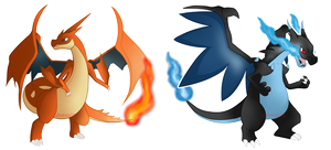 mega Charizard X And Y by sonnio