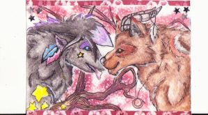 (ACEO) love is in the air by PurpleWish23