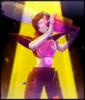Cooking with a Killer Robot. Mettaton EX by Princess-Liliana