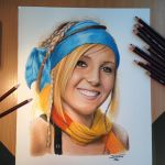 Color  Pencil Drawing of Jessica Nigri by AtomiccircuS
