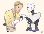 Obi Wan + Ventress by boxOFjuice
