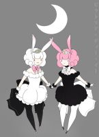 moon rabbit princesses by kotorikurama