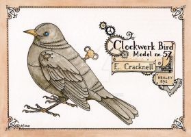 Clockwork Bird Model no.57 by haz-elf