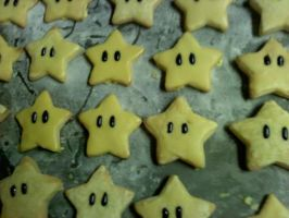 Super Mario Bros. Wii Star Cookies For Gamestop by xXStoryWolfXx