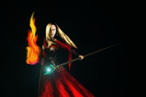 Ibliona, Mistress of Fire by xGreatCthulhux