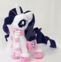 Rarity With Accessories Custom Minky Plush by ponypassions