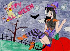 Gabbie - Happy Halloween! by NekoChanTheKitty