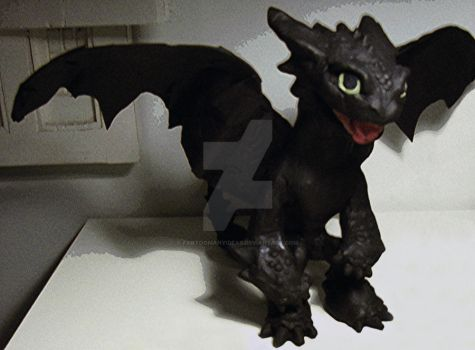 Clay Toothless by FarTooManyIdeas