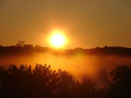 Misty Morning Sunrise 7 by FantasyStock