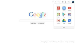 Google's New Homepage by link6155