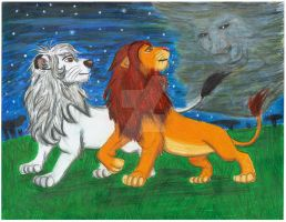 Simba and Kimba -2009 by CrystalMarineGallery