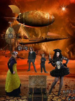 Travelers into the Unknown ( Steampunk ) by WyckedAngel