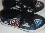 Peace Shoes by lady-dark-art