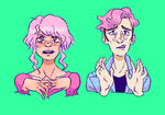 pink haired dweebs by MeelaDot