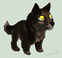 Big eyed wolf by CatherineSt