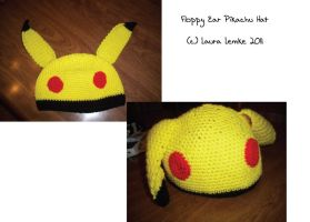 Floppy Ear Pikachu Hat by curseofpogo