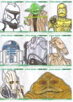 Clone Wars sketch cards 2 by NORVANDELL