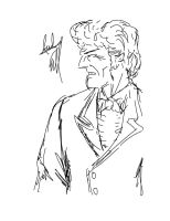 Sketch Boogie #7  The Third Doctor by AndyTurnbull