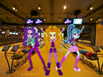 The Dazzlings Rocking the Bowling Alley by queendagi