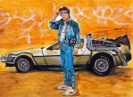 Marty McFly and his ride - Back to The Future by smjblessing