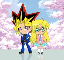 Yami Yugi and Rebecca Hopkins by ran5020