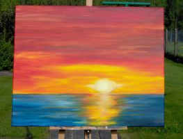 sunset painting by Namingway-Regret