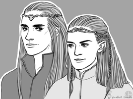 father and son by girabbit