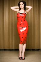 Dita Von Teese Latex dress by miss-kitty-j