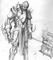 big guy with an ax thing by captaincoconutz