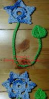 Flower Bookmark Set by crochetamommy