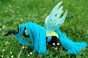 Queen Chrysalis Plush knit toy by LightningChaser
