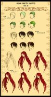 Hairstyles of known characters! by DayonXVIII