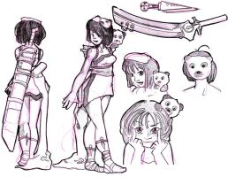 Character Sketch Luna by wasiland