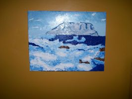 Sea Oil Painting by smileymileysworld