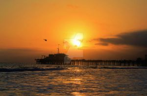 Sunset at the Santa Monica Pier by Sedition1216