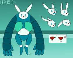 LEPUS-01 reference sheet by QueenOfCuttlefishes