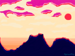 Sunset on the cliffs by HydromelKing
