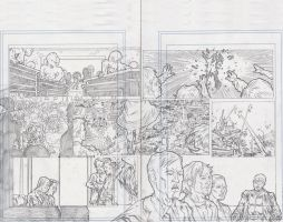 Stars 2 Page 2 and 3 Pencils by KurtBelcher1