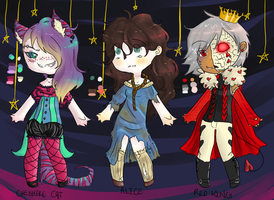 Adoptables batch 5, Wonderland Genderswap(closed) by Lacy-Succubus