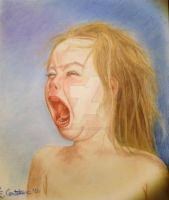 Crying baby by EugeneTheCounter