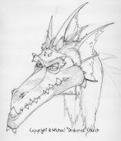 Smaug sketch by drakered