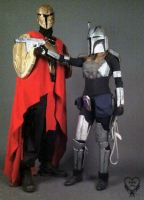 Mandalorian Bounty Hunter Costume Armed by Kafae-Latte
