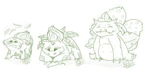 bulbasaur family by TheArtyMadCow