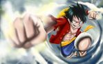 Monkey D. Luffy - Gomu Gomu No Pistol - One Piece by Katchina-Q2