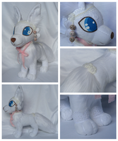 Arctic Fox Plushie - FOR SALE by foxpill