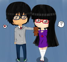 The girl with Glasses by Megane-Koishii